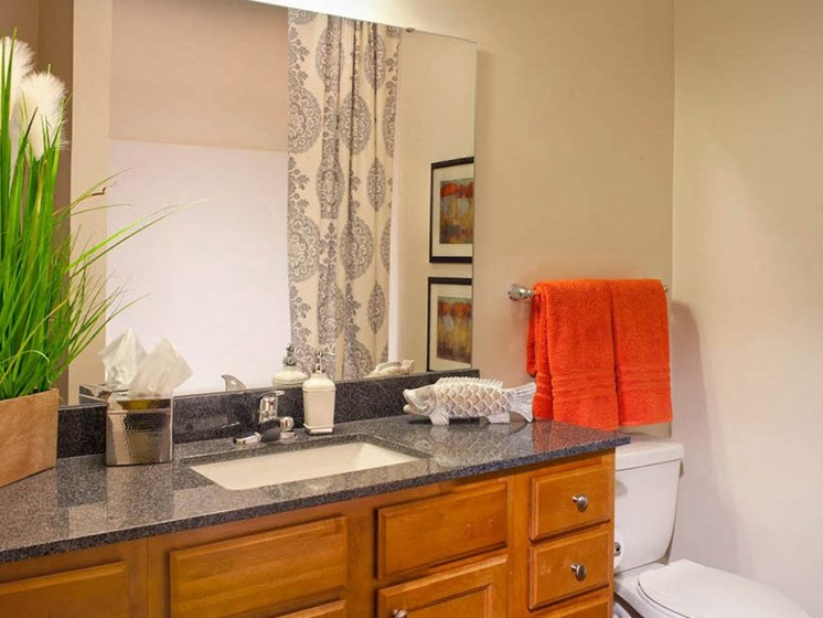 luxury bathrooms at Abberly Crest Apartment Homes by HHHunt, Maryland