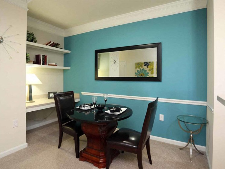 Coastal Light Wood Floor Dining Room at Abberly Crest Apartment Homes by HHHunt, Lexington Park, Maryland