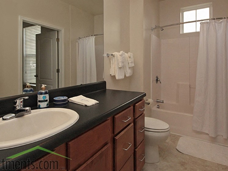 Designer Granite Countertops in all Bathrooms at Abberly Crest Apartment Homes by HHHunt, Maryland, 20653