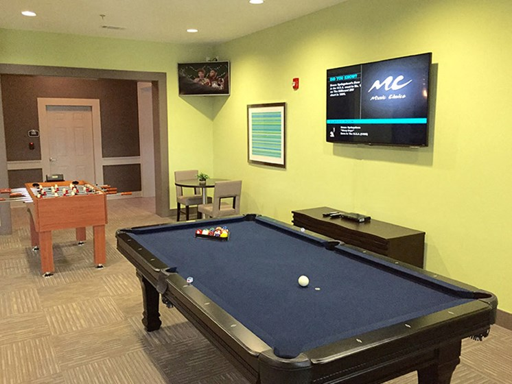 Billiard Table at Abberly Crest Apartment Homes by HHHunt, Lexington Park, Maryland