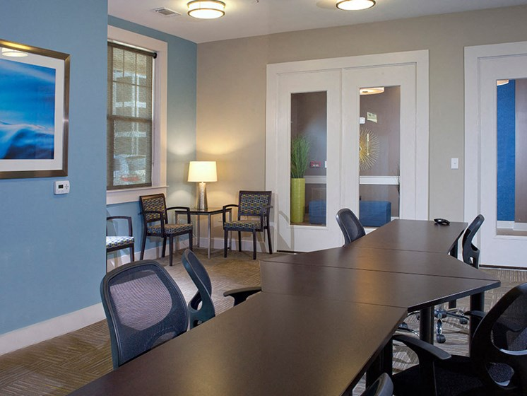 Conference Room at Abberly Crest Apartment Homes by HHHunt, Lexington Park