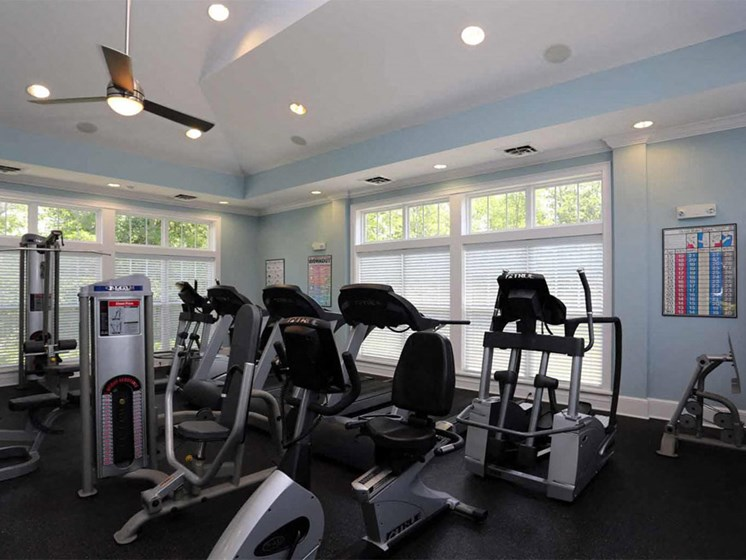 State of the Art Fitness Center at Abberly Crest Apartment Homes by HHHunt, Lexington Park