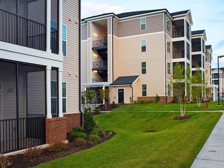 Lush landscaping at Abberly Crest Apartment Homes by HHHunt, Lexington Park, 20653