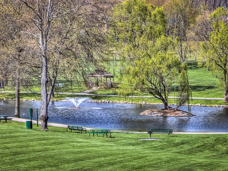 Lake Views at Hethwood Apartment Homes by HHHunt, Blacksburg, Virginia