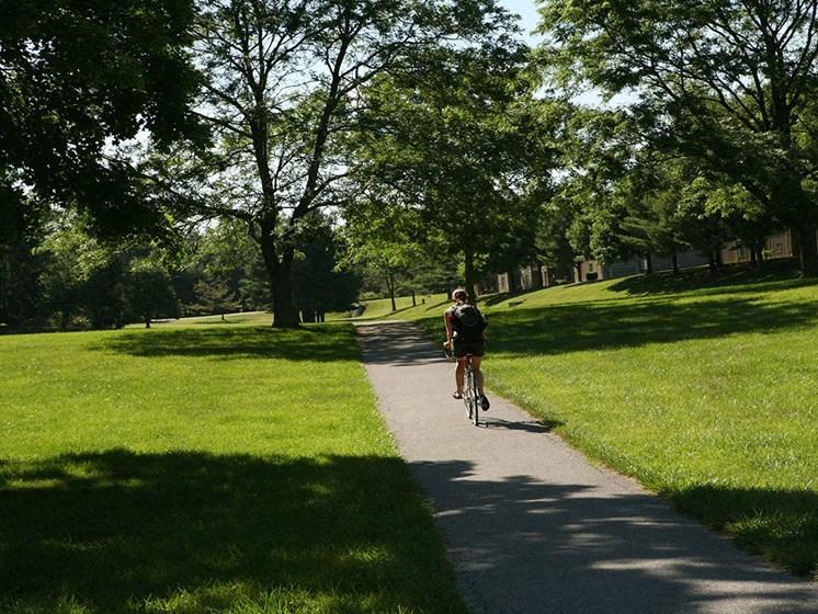 Bike Riding Trails at Hethwood Apartment Homes by HHHunt, Blacksburg, VA