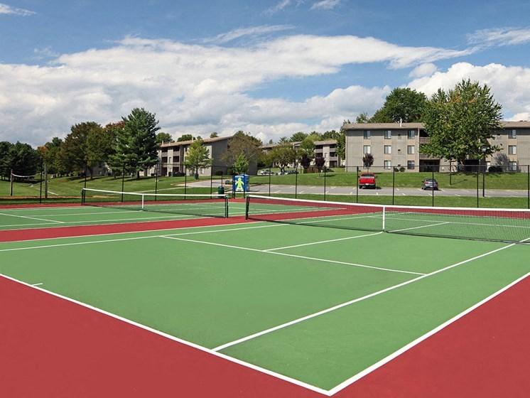 Full Outdoor Basketball Court at Hethwood Apartment Homes by HHHunt, Blacksburg, 24060