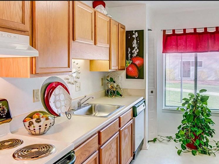 New Counter Tops and Cabinets at Hethwood Apartment Homes by HHHunt, Blacksburg, VA, 24060
