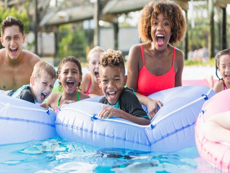 Relaxing Pool at Hethwood Apartment Homes by HHHunt, Blacksburg, VA, 24060