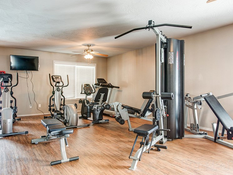 fitness center at Quail Creek Apartments