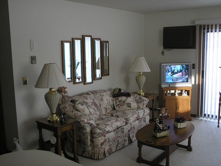 Sheridan Pointe Apartments   2 Bedroom   Living Room