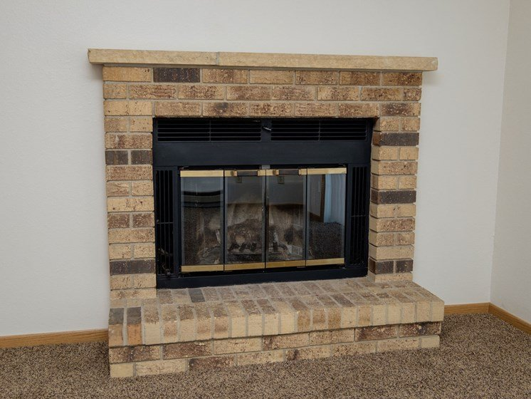 Windgate Apartments   2 Bedroom-203   Living Room-Fireplace
