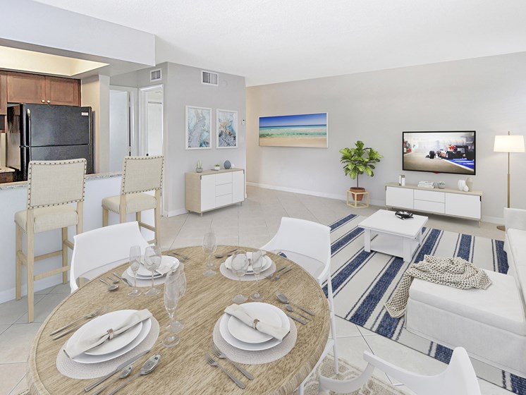 Dining Table With Living Room