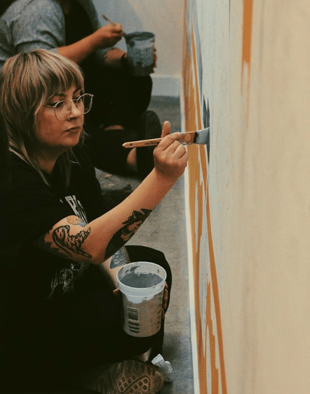 Painting the Mural Lily Therens