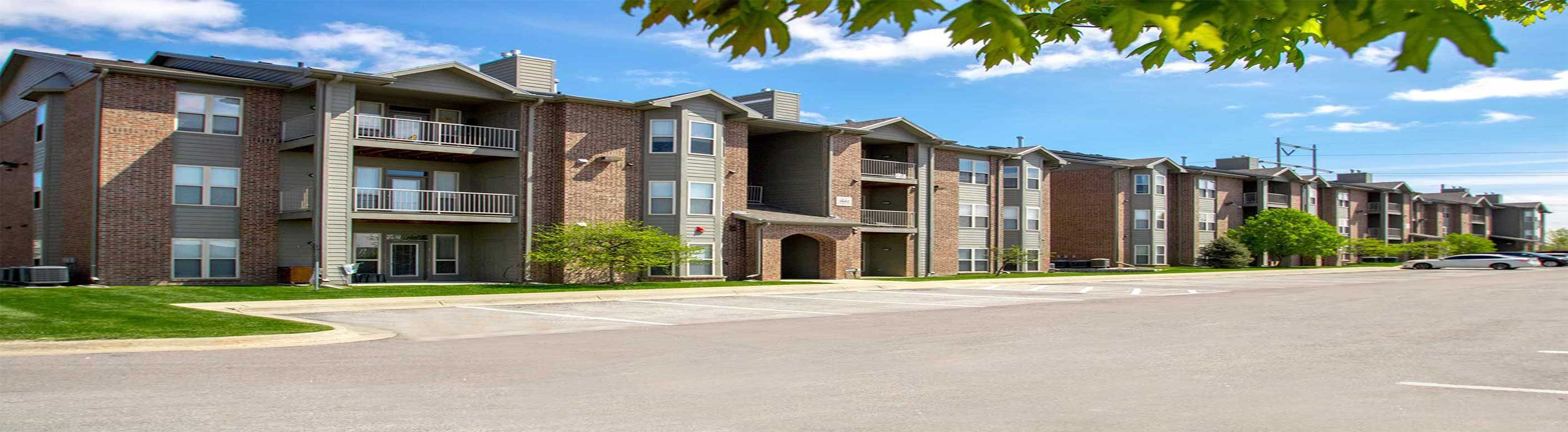 Community Exterior Overview at Whispering Hills, Omaha