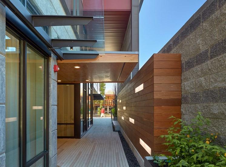 4730 California Apartments Outdoor Hallway