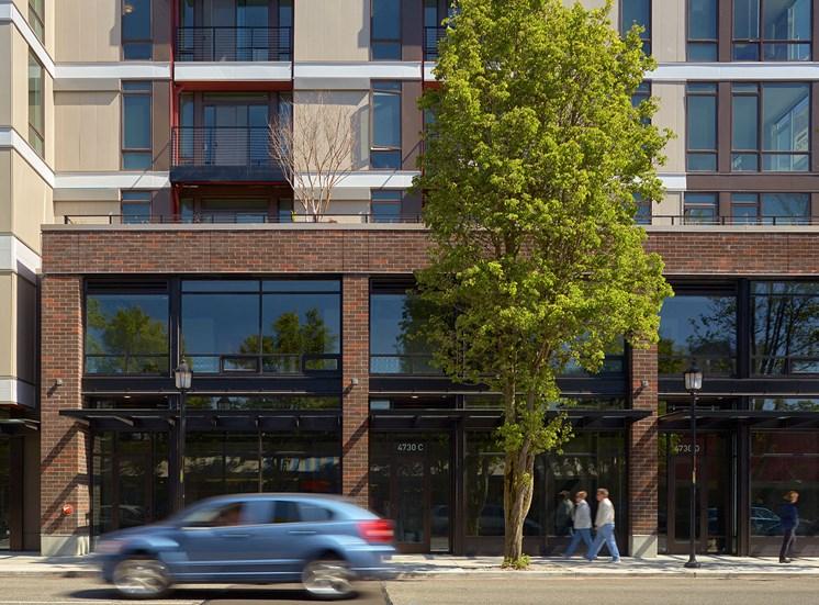 4730 California Apartments Building Exterior and Street