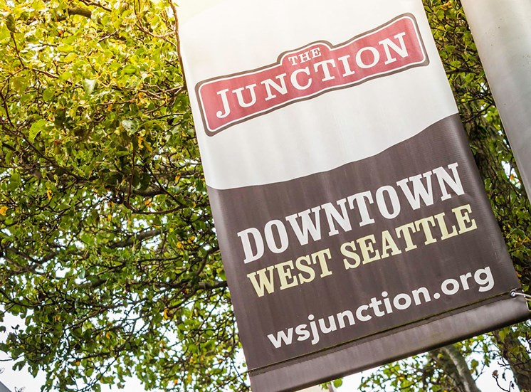 Downtown West Seattle the Junction Signpost