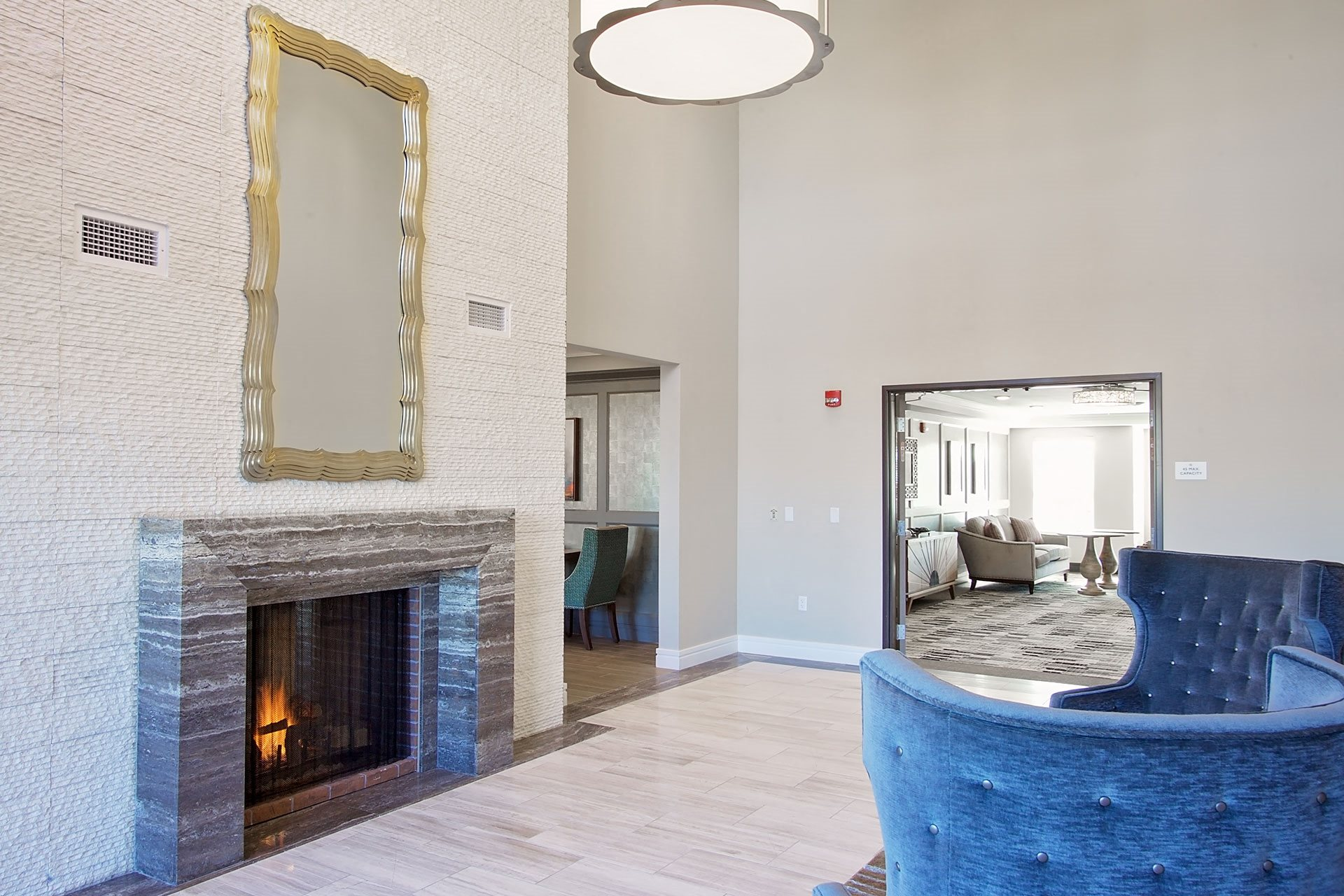 Portera at the Grove_Wilsonville  Fireplace lounge