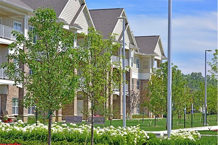 Lush Green Outdoors at Rose Senior Living – Avon, Avon