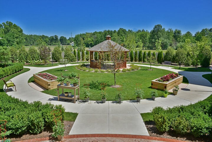 Beautifully Designed Community Garden at Rose Senior Living – Avon, Avon, OH, 44011
