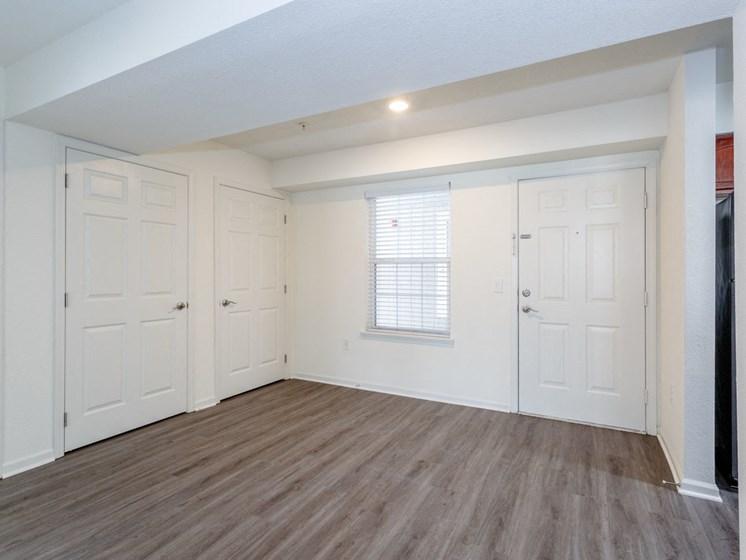 Living room with vinyl plank flooring