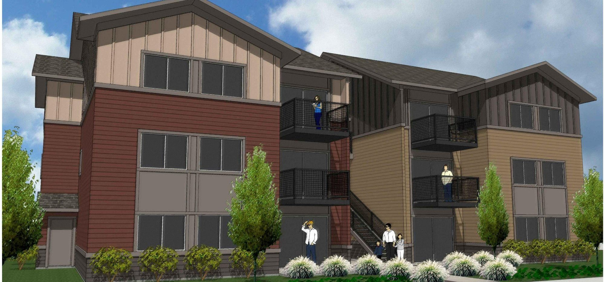 Claxter Crossing Apartments Exterior Building Rendering