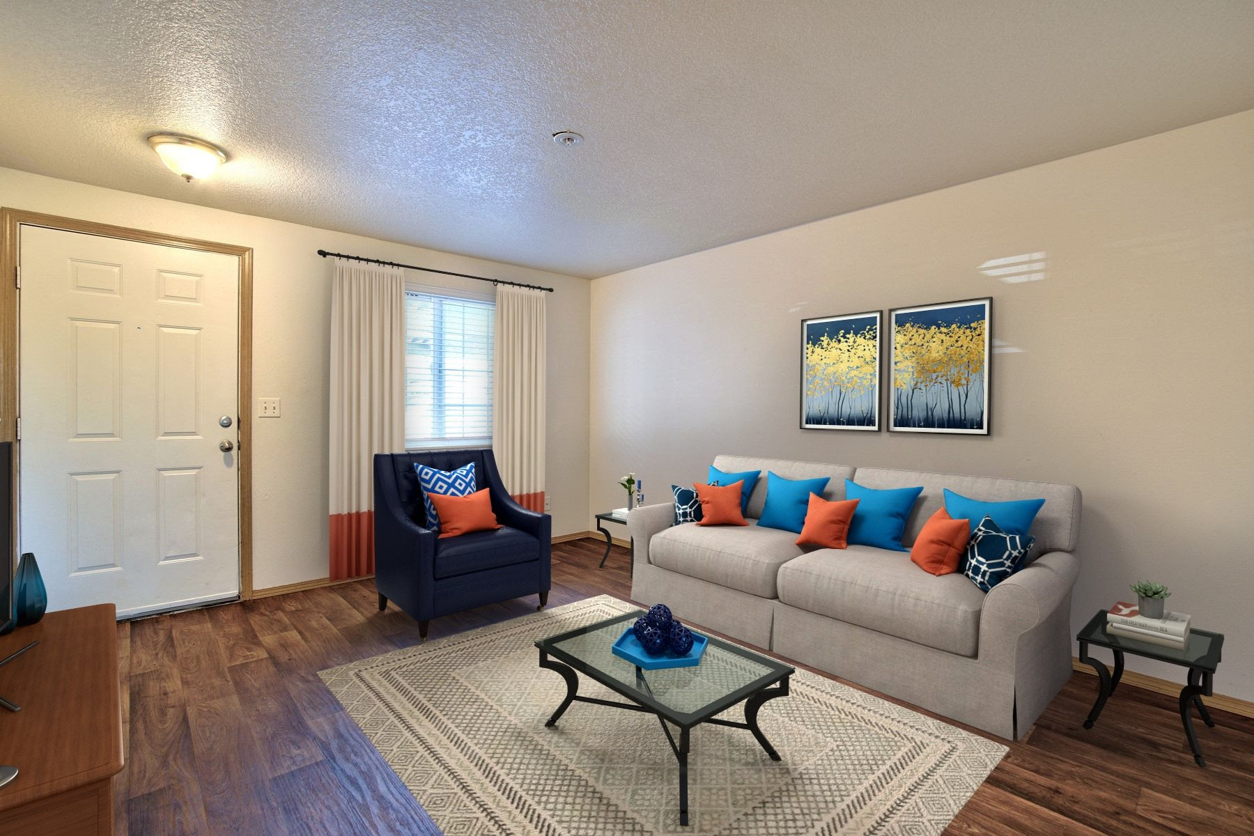 Parc East Apartments Staged Living Room