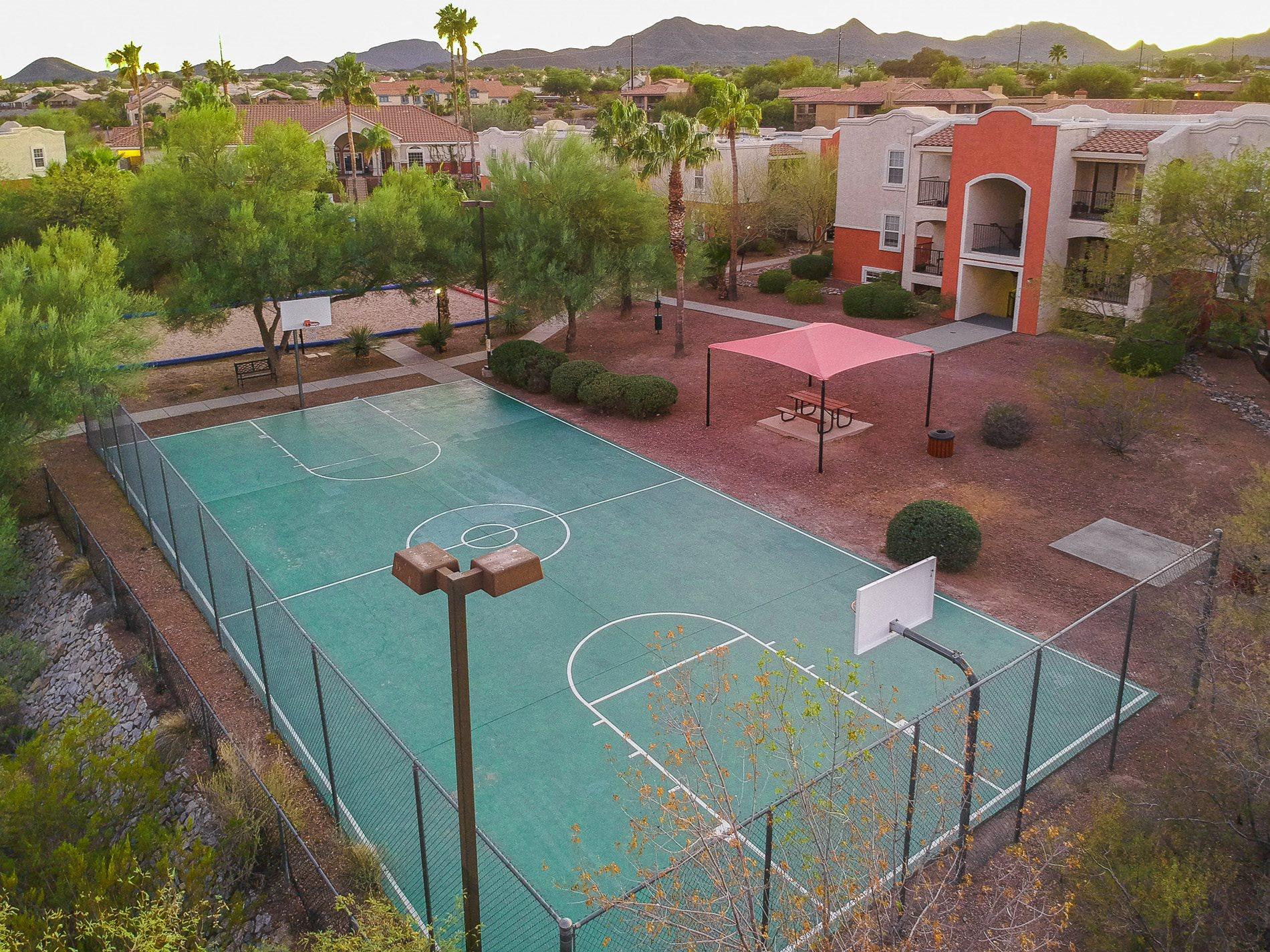 University Villa at Ironwood basketball court
