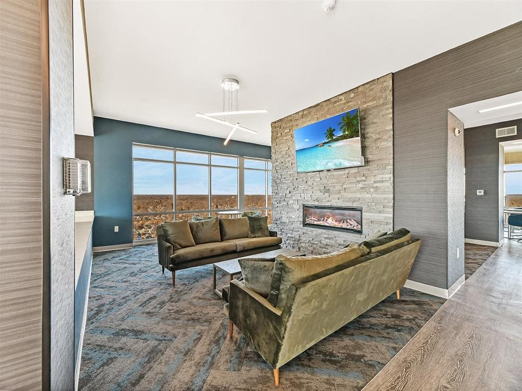 Skyloungefireplace at CityView on Meridian, Indiana, 46208