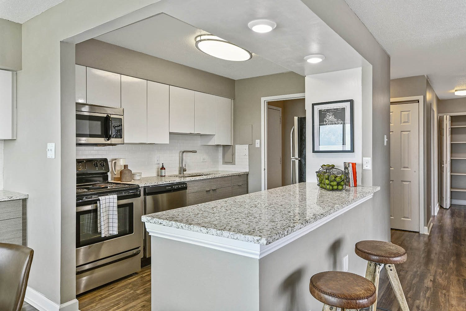 Eat-In Kitchen at CityView on Meridian, Indianapolis, Indiana