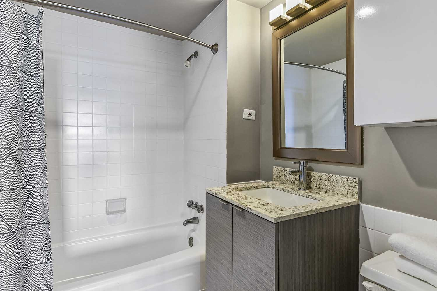 Framed Vanity Mirrors at CityView on Meridian, Indianapolis, 46208