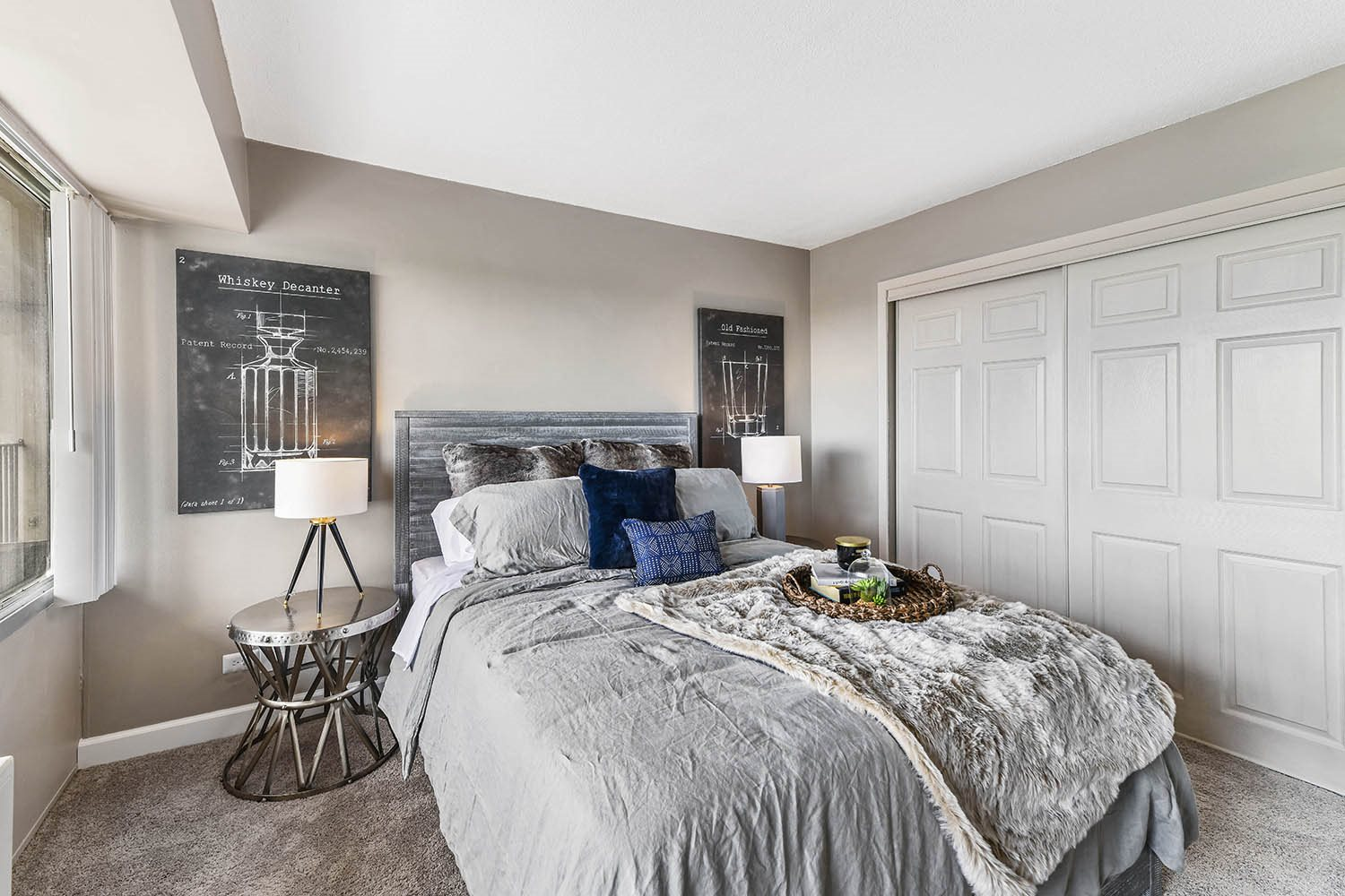 King-Sized Bedrooms at CityView on Meridian, Indiana