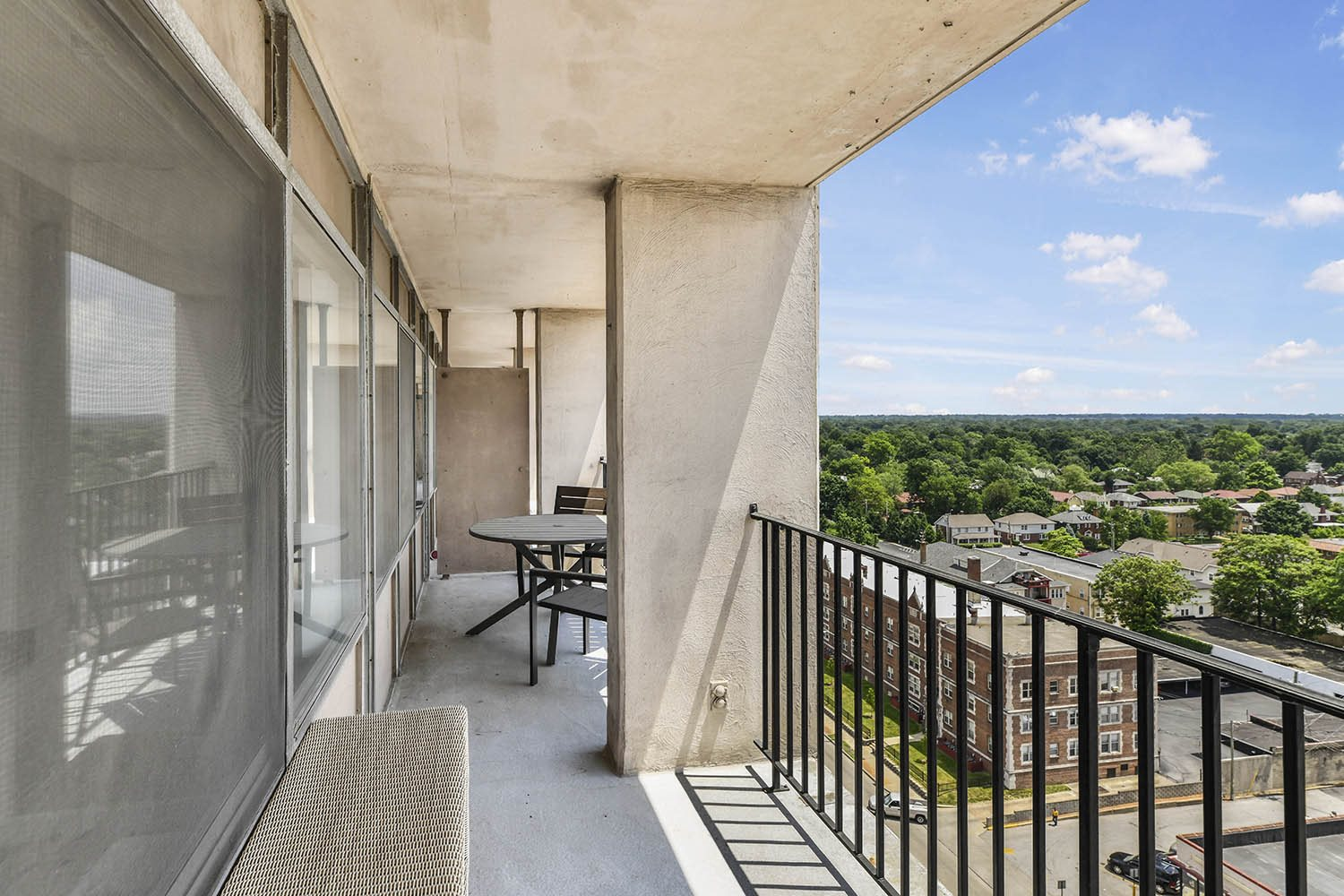 Private Expansive Balcony at CityView on Meridian, Indianapolis, IN,46208