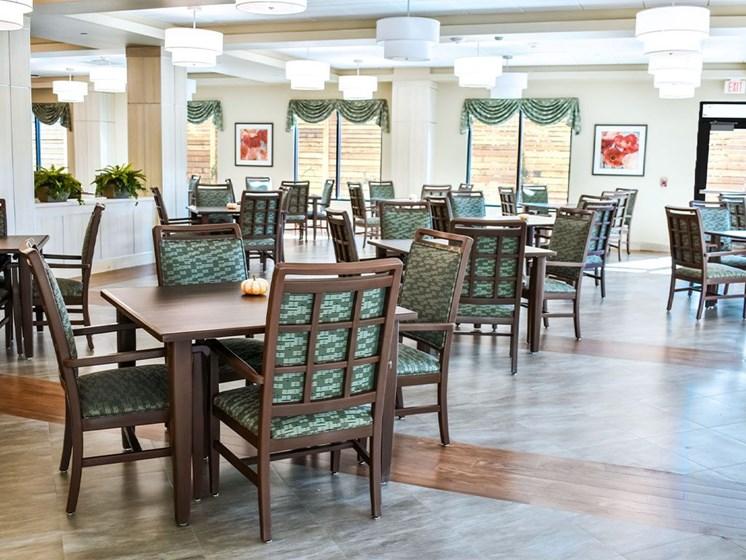 Spacious Dining Hall at Westmont of Milpitas, Milpitas, California