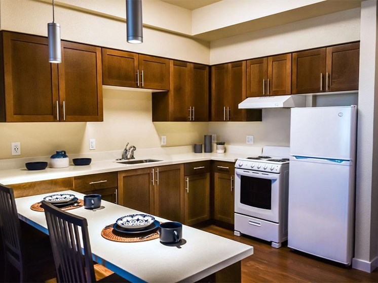 Eat-In Kitchen Table With Sink at Westmont of Milpitas, California