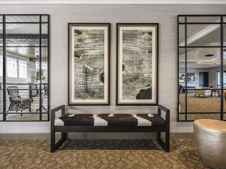 Living room with Wall Frames at The Oaks at Paso Robles, Paso Robles, 93446