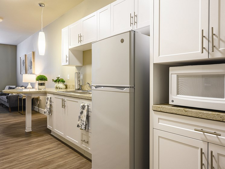 Kitchen with Refrigerator at The Oaks at Paso Robles, California, 93446