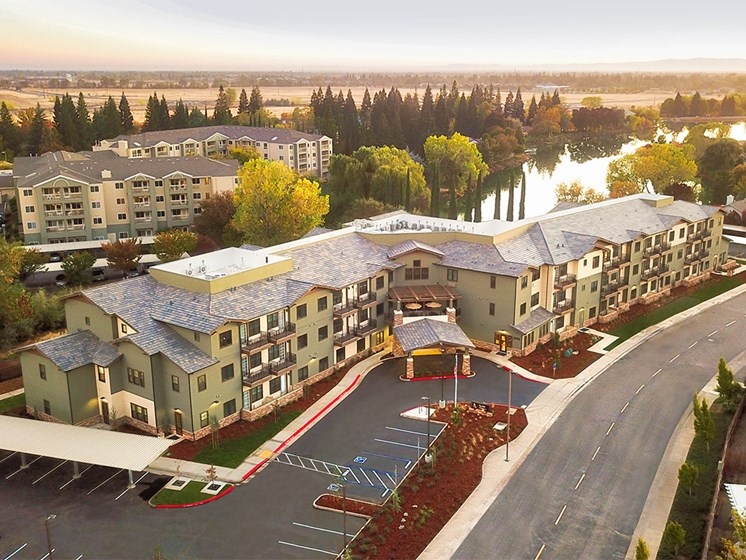 Aerial View Of The Community at The Terraces, Chico