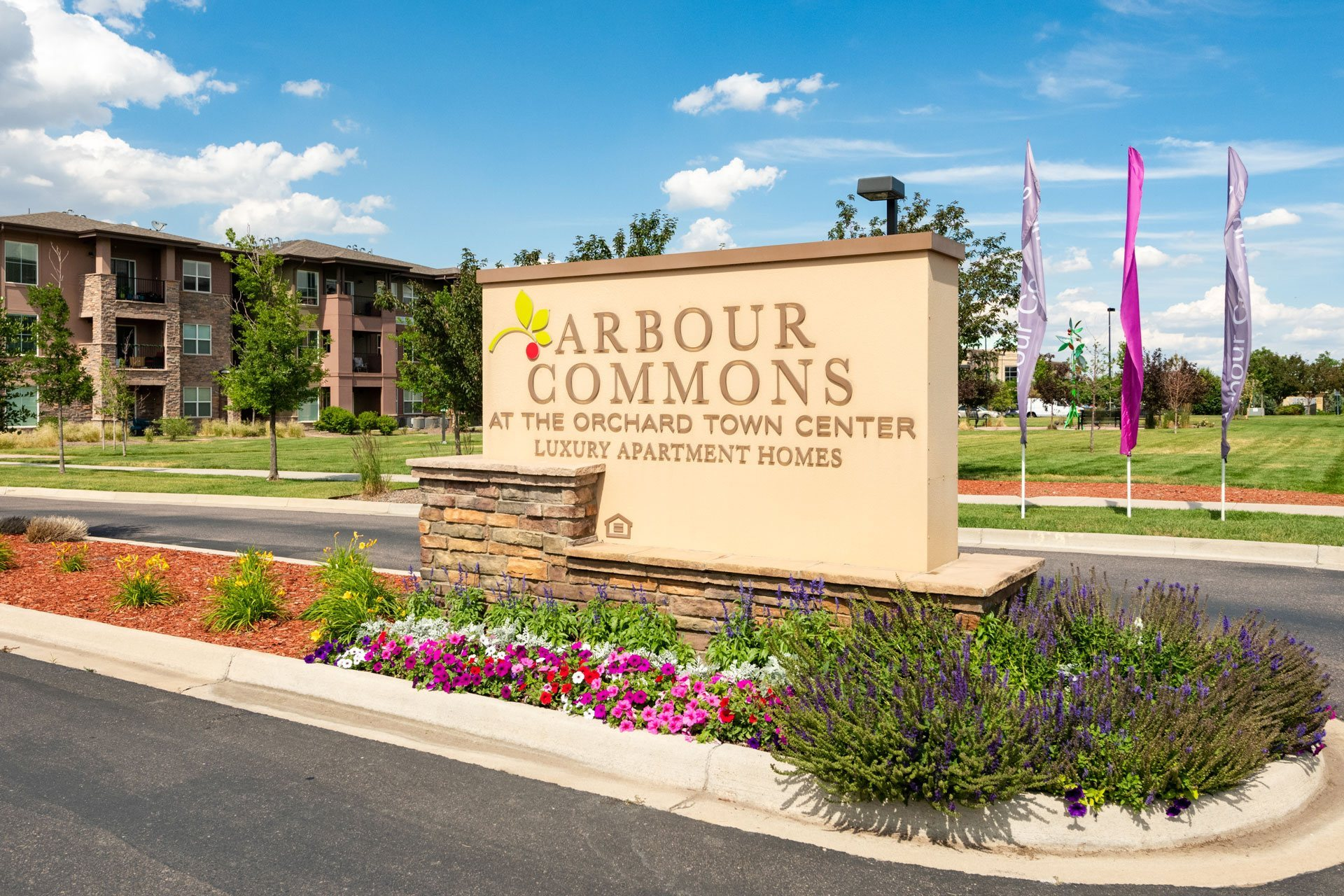 Welcoming Property Signage at Arbour Commons, Westminster, CO, 80023