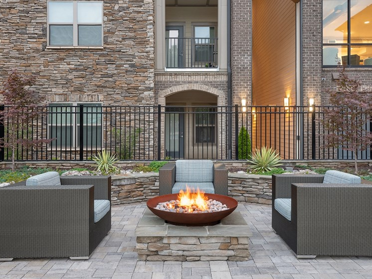 Brizo firepit and seating