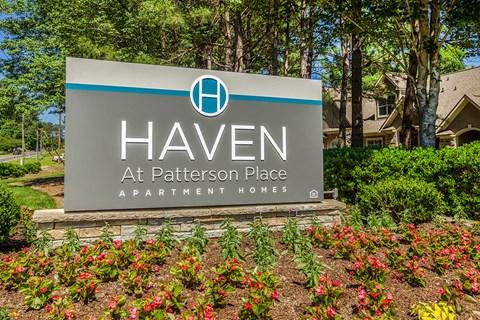Elegant Sign Board at Haven at Patterson Place, Durham, North Carolina