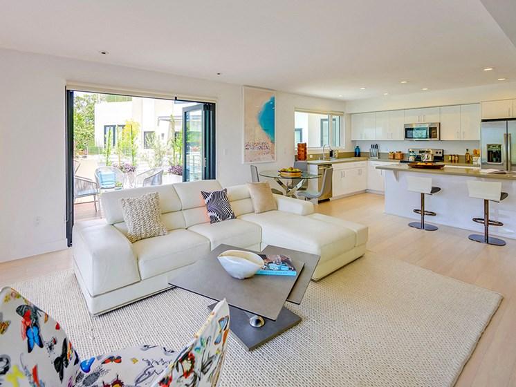 open California living spaces at 301 Ocean Apartments in Santa Monica, CA