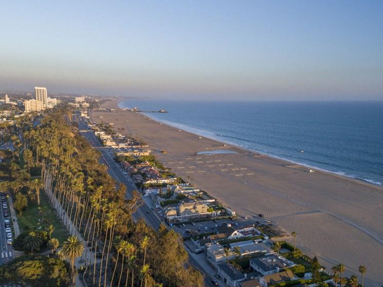 View of Santa Monica Beach at 301 Ocean Ave, Santa Monica, 90402