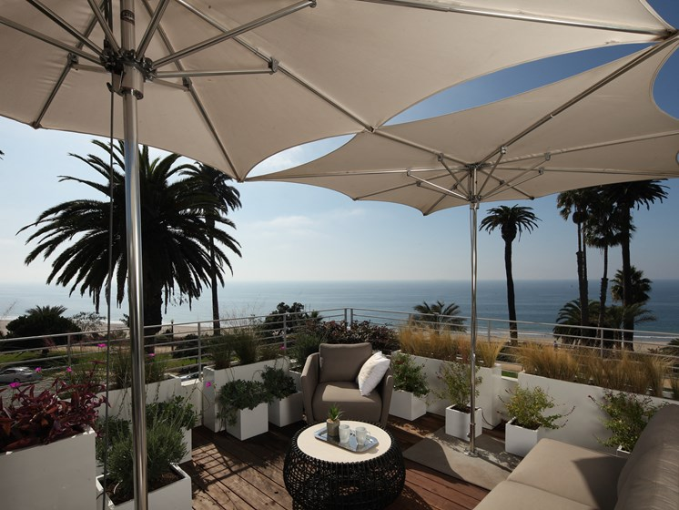Private Roof Top Garden Deck with Full Ocean Views, at 301 Ocean Avenue, Santa Monica