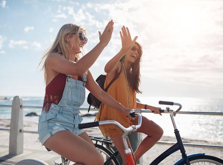 Shoreview girls on bikes