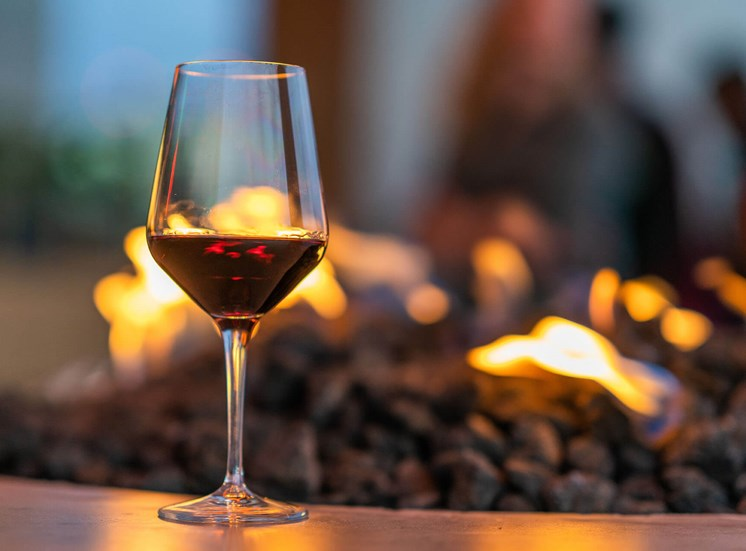 Shoreview glass of wine