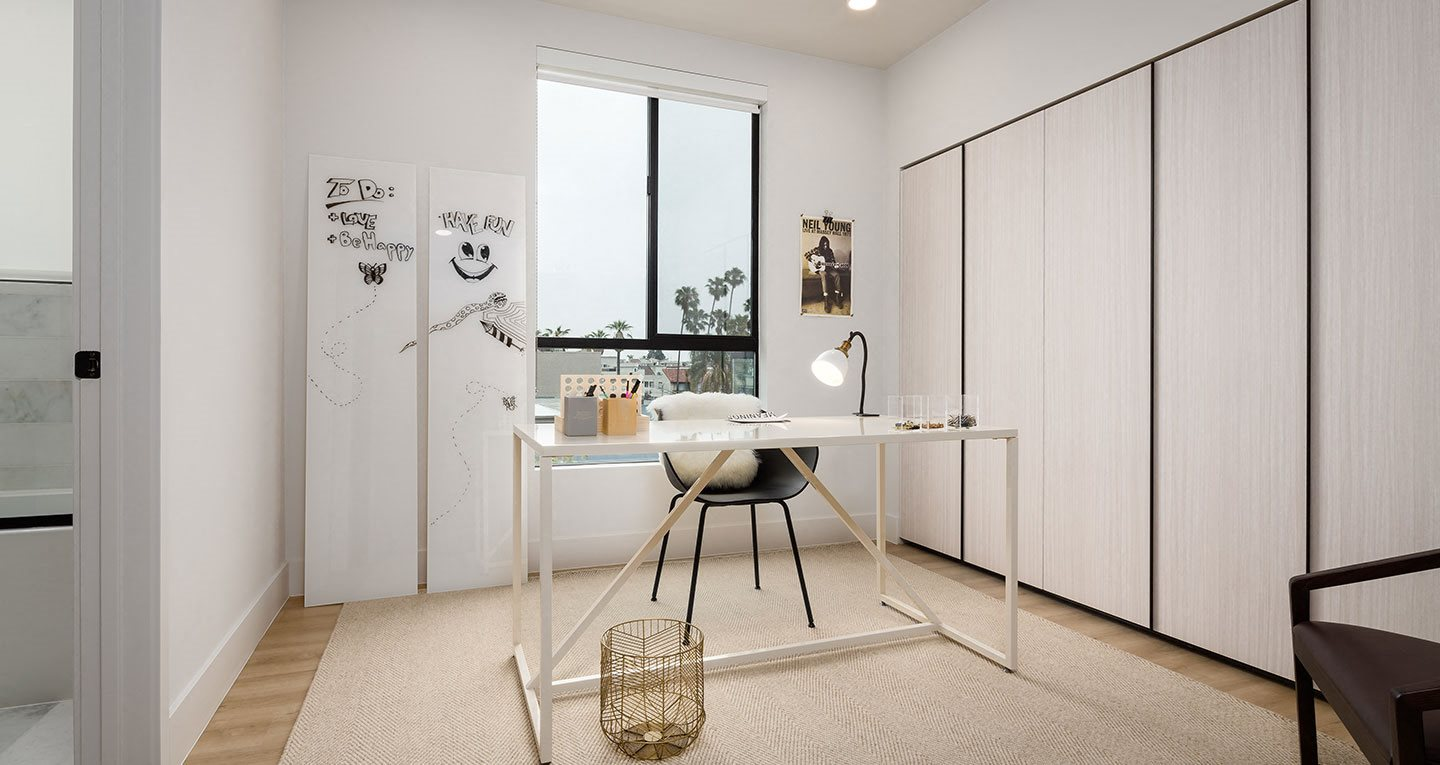 Make the third bedroom into an office or creative space