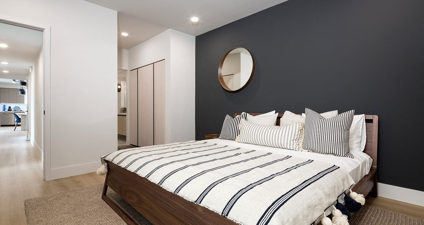 Master bedrooms with dual closets