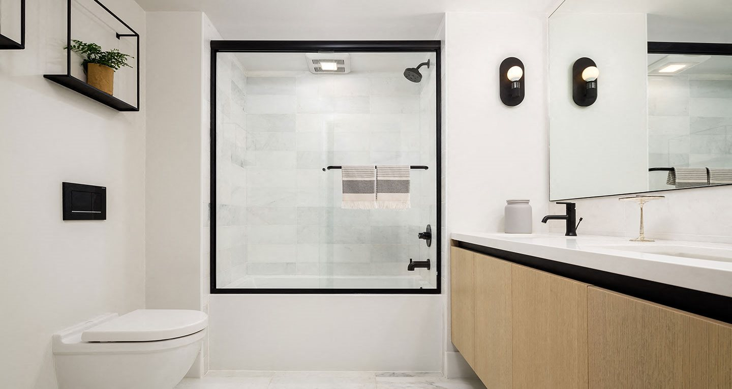 Bathrooms with Carrera Marble