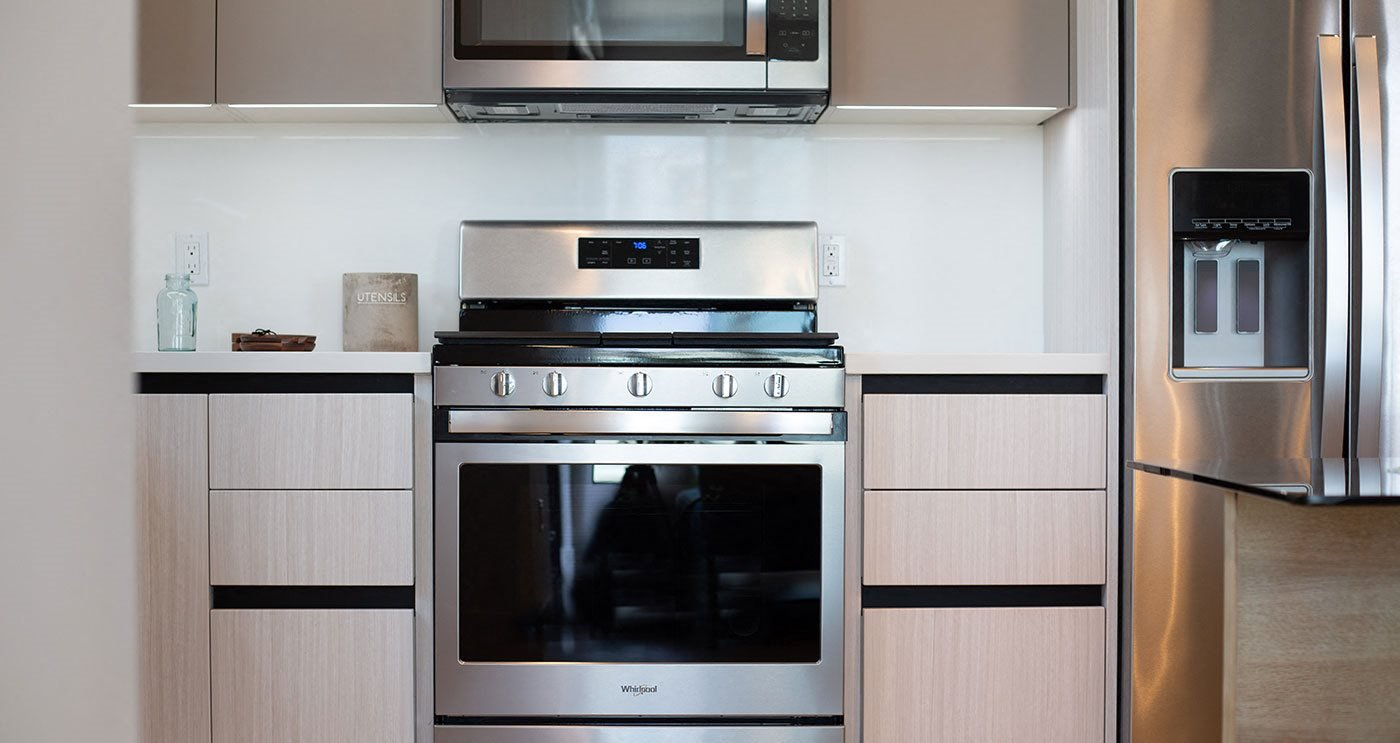 All residences with stainless steal appliances